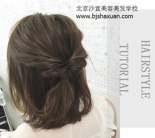 漂亮的短发发型 短发编发技巧-北京沙宣美发学校