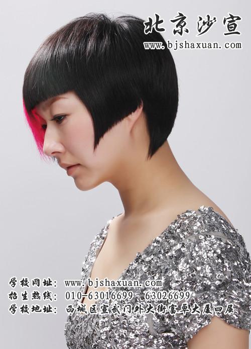 北京沙宣学校美发作品图片